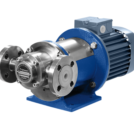 The PFA-Lined gear pumps series offer a durably constructed outer stainless Steel body with a heavily layered Fluoro-Polymer (PFA) internal lining. This highly chemically resistant PFA lining is mechanically attached and bonded to the internal stainless steel surfaces using a specialized molding process, effectively isolating the fluid being pumped from any metal surfaces. Fluoro-Polymers exhibit the highest corrosion resistance of any plastics. This combination of stainless steel on the outside and Fluoro-Polymer on the inside gives the Poly-Guard™ the full strength and integrity of a metal pump with the ultimate corrosion resistance of a Fluoro-Polymer. Since 1972 our gear pumps (Verdergear Process) are produced from the renowned manufacturer Liquiflo in the United States.