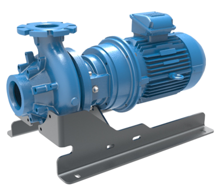 Horizontally mounted close coupled pump with optional base plate, Verderhus® B pumps are ideal for large solid handling with <10% sludge and <30% slurry with maximum fluid viscosity of 3000cP. Offering maximum flow rate of 1200 m³/h and maximum head of 55 mwc Verderhus® B close coupled pumps have gentle, low shear pumping action. These pumps use low energy as compared to other technologies and hence have reduced operation and maintenance costs.