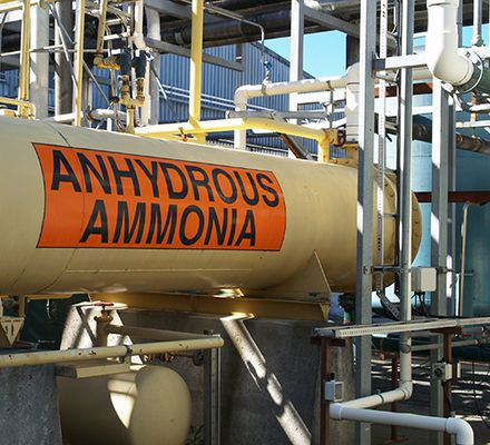 Ammonia is commonly used for its nitrate content and antiseptic properties. It is the second largest chemical used in industry by volume and used in a great number of processes.