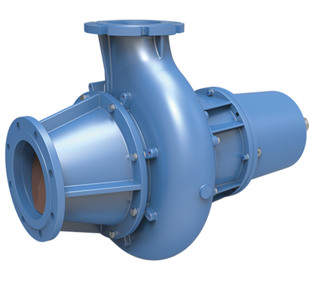 Verderhus® L long coupled pumps are horizontally mounted with optional base plate coupling and foot mounted motor. Although these pumps are technically the same as Verderhus® B close coupled pumps, these are ideal for operation in higher temperature applications because of the long coupled configuration or if the customer wants easier access to replacing the motor.