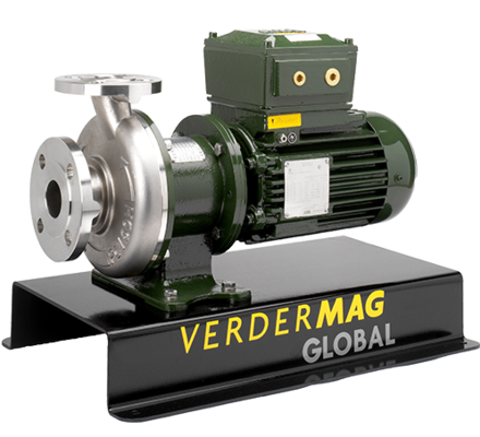 Verdermag Global is a range of metallic centrifugal magdrive pumps suitable for chemicals, acids, solvents, Atex environments, oils and salt water.  Applications for our pumps include nanofiltration, fast-loop systems, chemical transfer, petrochemical plants, power stations, oil rigs, recirculation, pharmaceutical production and CIP lines all over the world. The magdrive principle means our pumps are 100% leak-free and provide total containment between the fluid and environment.